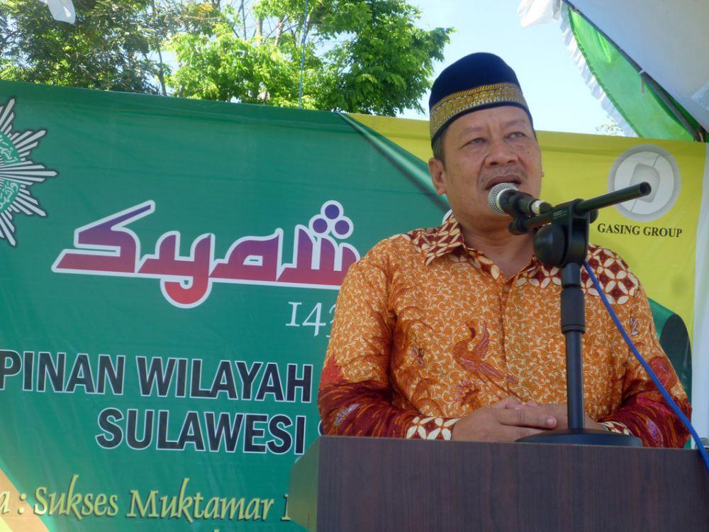 Goodwill Zubir, Ketua PP Muhammadiyah saat membawakan sambutan